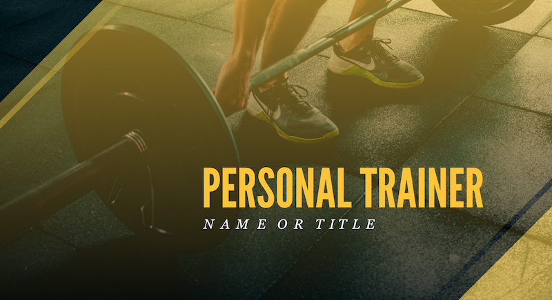 Personal Trainer YouTube Banner Template