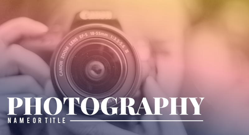 Photography YouTube thumbnail template