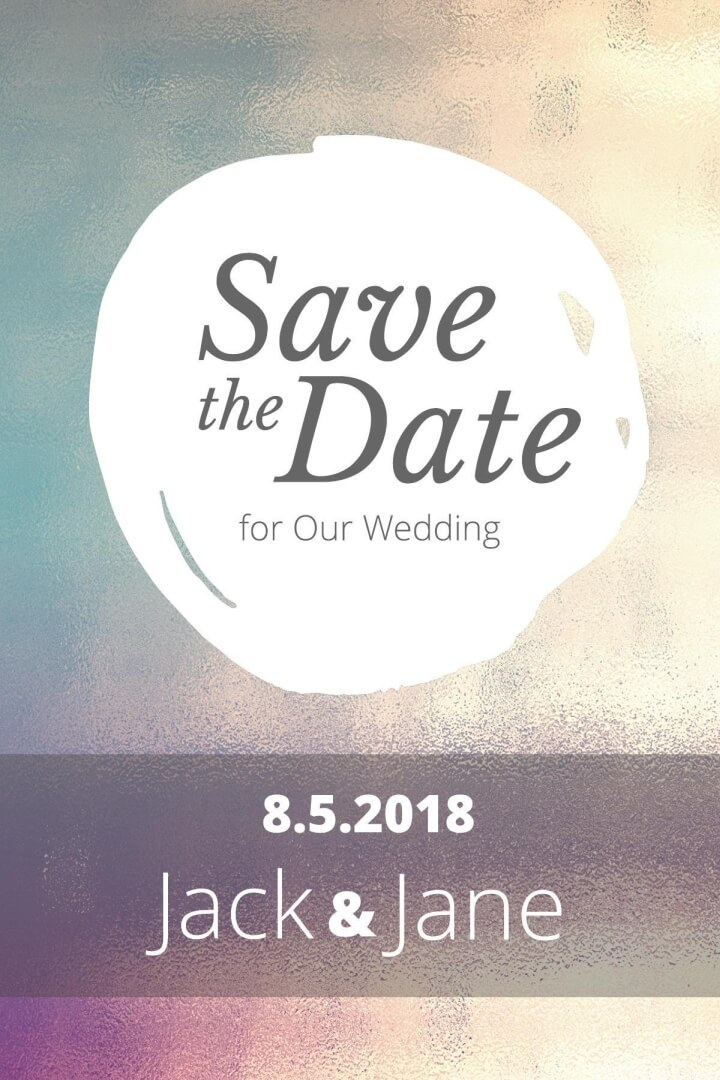 Save the date template