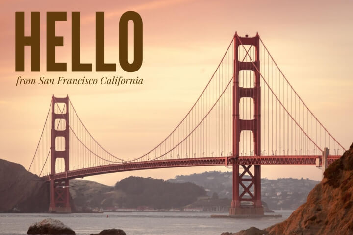 San Francisco Travel Postcard Template