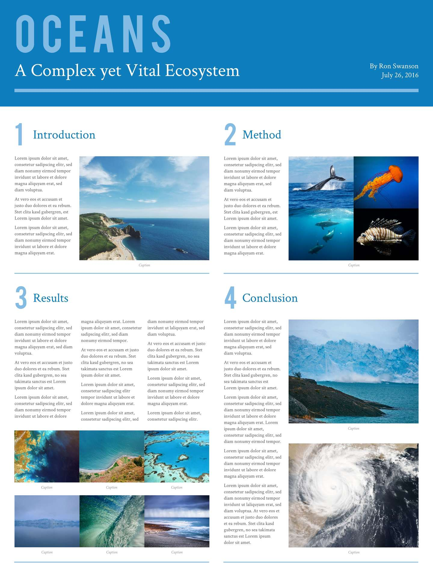 ecosystem scientific poster template - Free Poster Templates