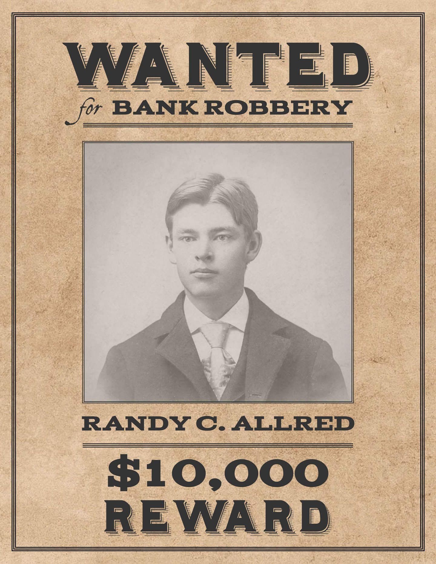 picture regarding Printable Wanted Poster named Western Ideal Poster Template Lucidpress
