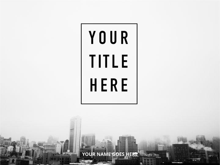 top floor simple presentation template
