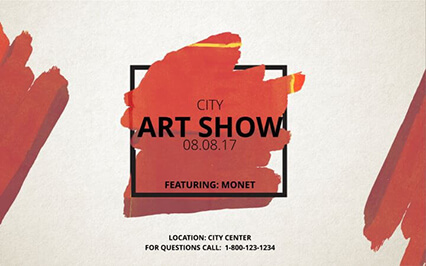 Art Show Event Banner Template