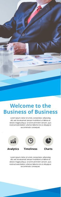 8 free vertical banner templates examples lucidpress executive business banner template fbccfo