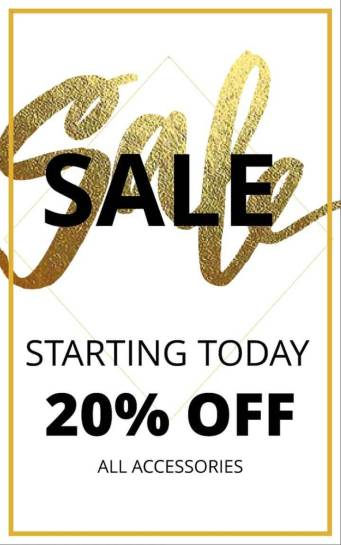Gold Sale Advertising Banner Template Image 01