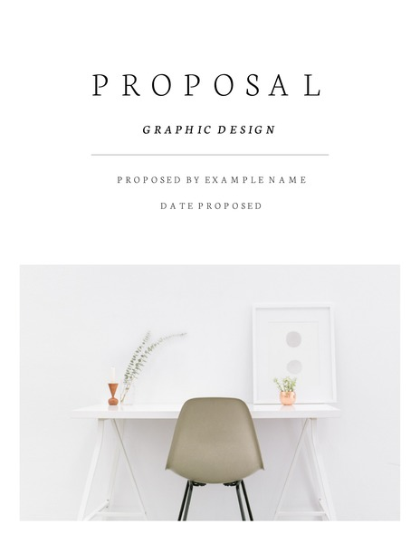 Minimalist graphic design proposal template