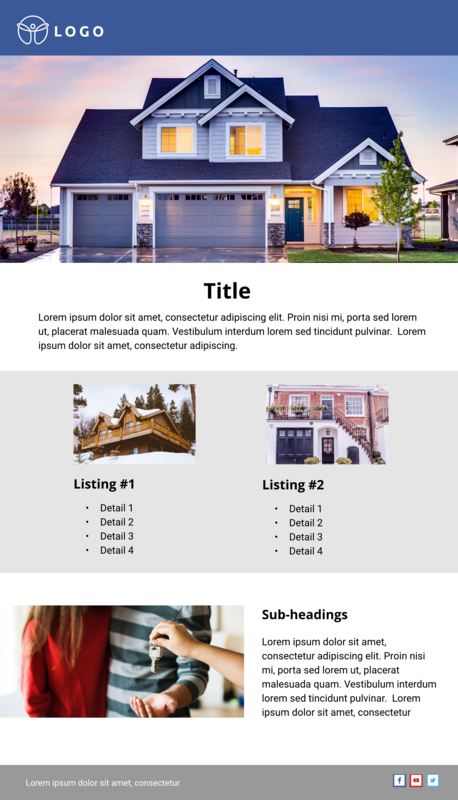 Real Estate Email Newsletter Template