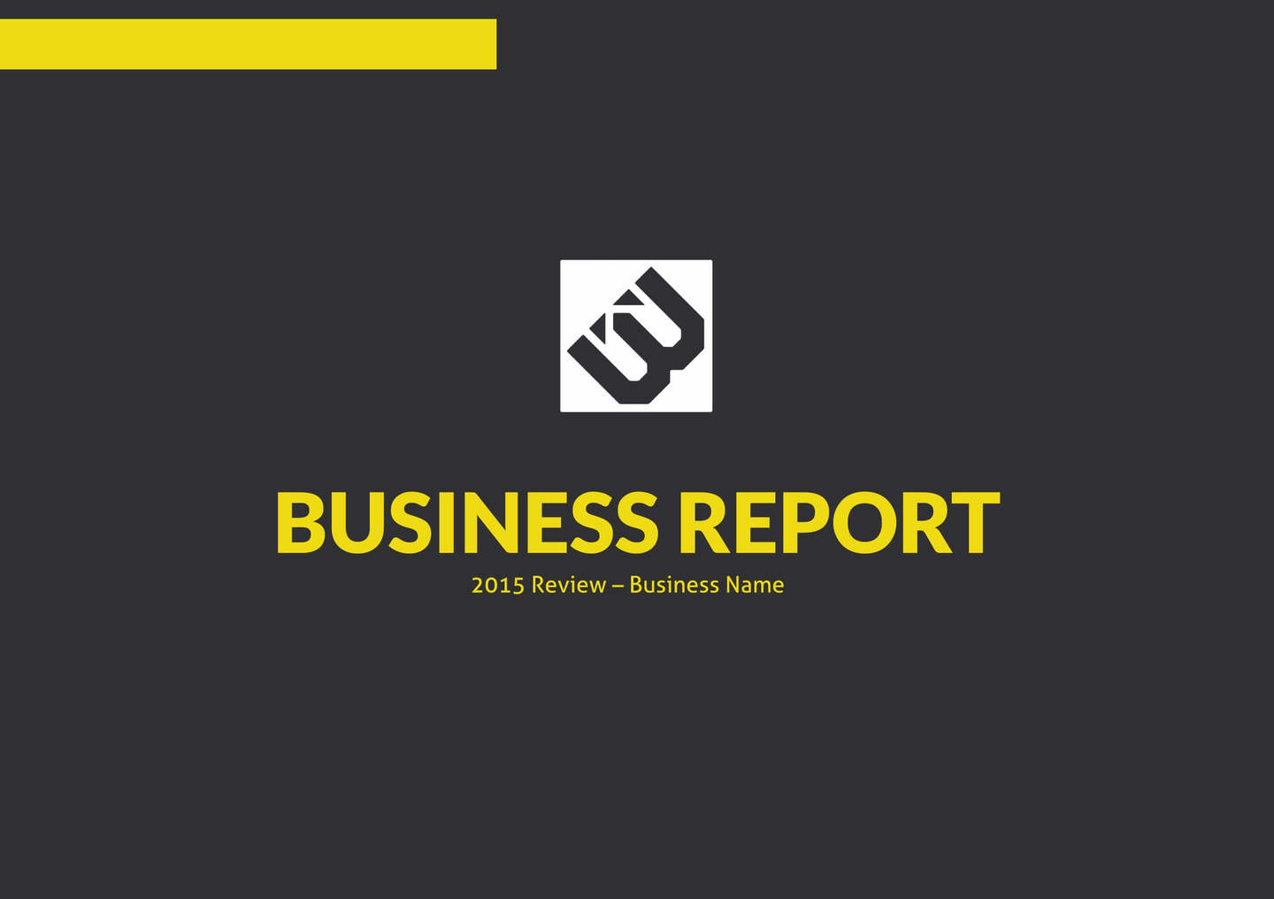 digital business report template