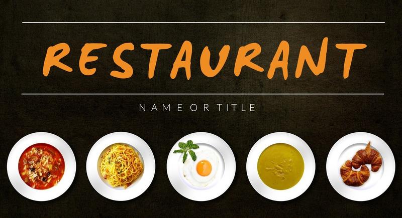 Restaurant YouTube Banner Template