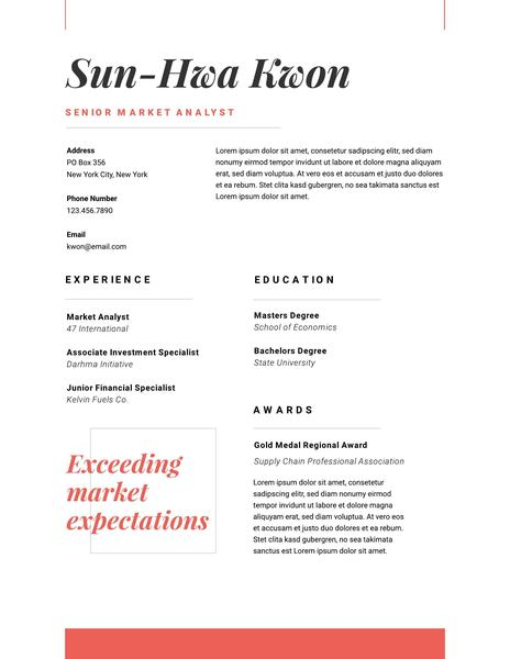 Red Creative Resume Template