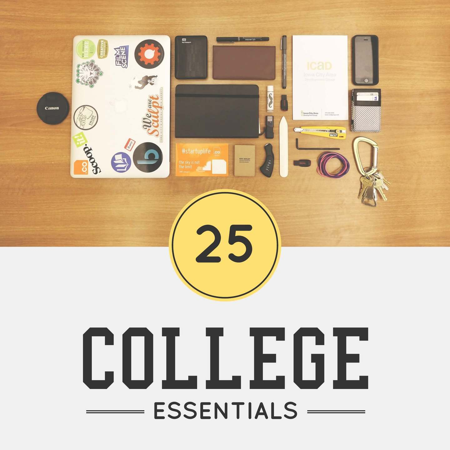 College Pinterest Post Template