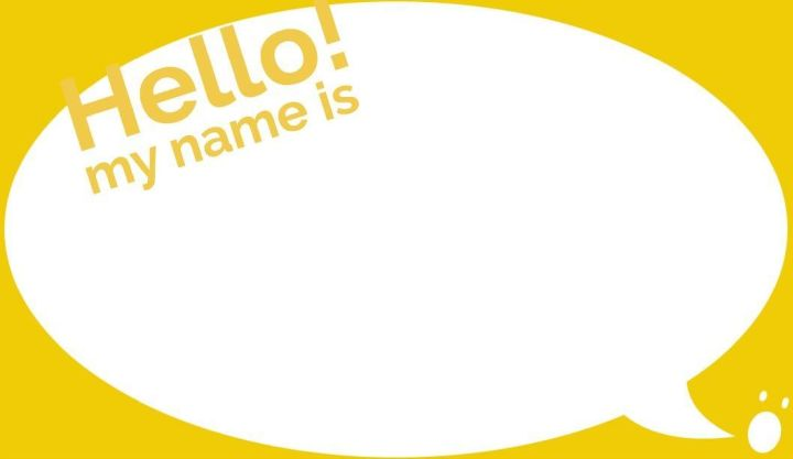 Speech Balloon Name Tag Template