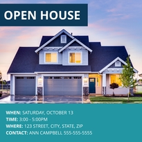 Suburban Open House Facebook Post Template