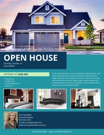 Free Real Estate Flyer Templates Examples Lucidpress - Open house ad template