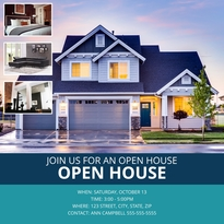 Suburban Open House Instagram Post Template