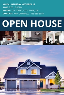 Suburban Open House Pinterest Post Template