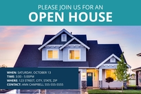 Suburban Open House Postcard Template