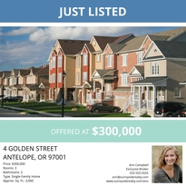 Townhouse Listing Facebook Post Template