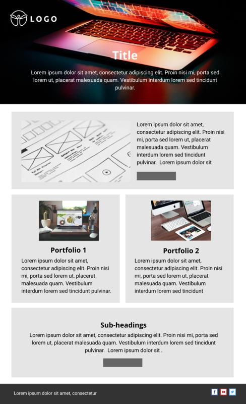 Website Design Email Template