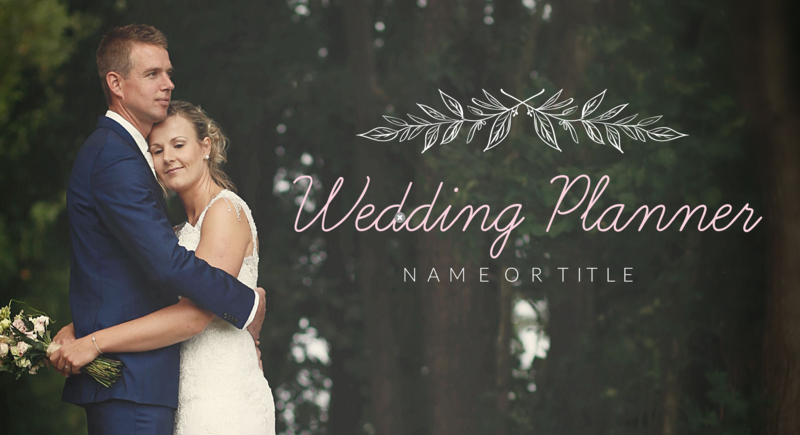 Wedding planner YouTube thumbnail template