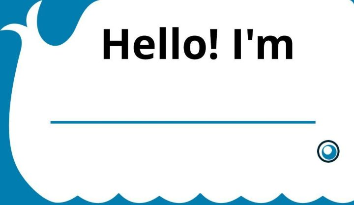 White Whale Name Tag Template