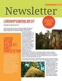 Nice Newsletter Template Newsletter Format Inside News Letter Formats