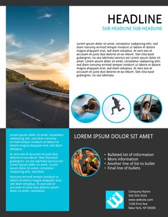 Fitness Flyer Cobalt Fitness Flyer Templates  Free Fitness Flyer Templates