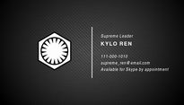 Star Wars Business Card