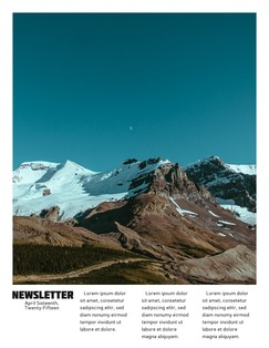 Polaroid Newsletter Template