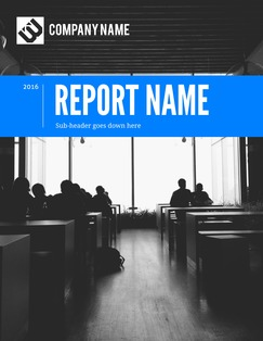 Royal Blue Company Report Template