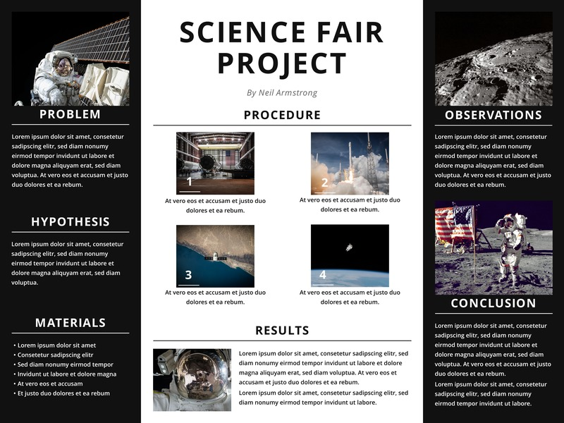 Science Fair Project Poster Template