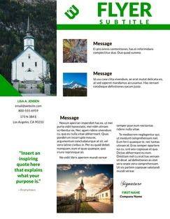 Standard church flyer templates