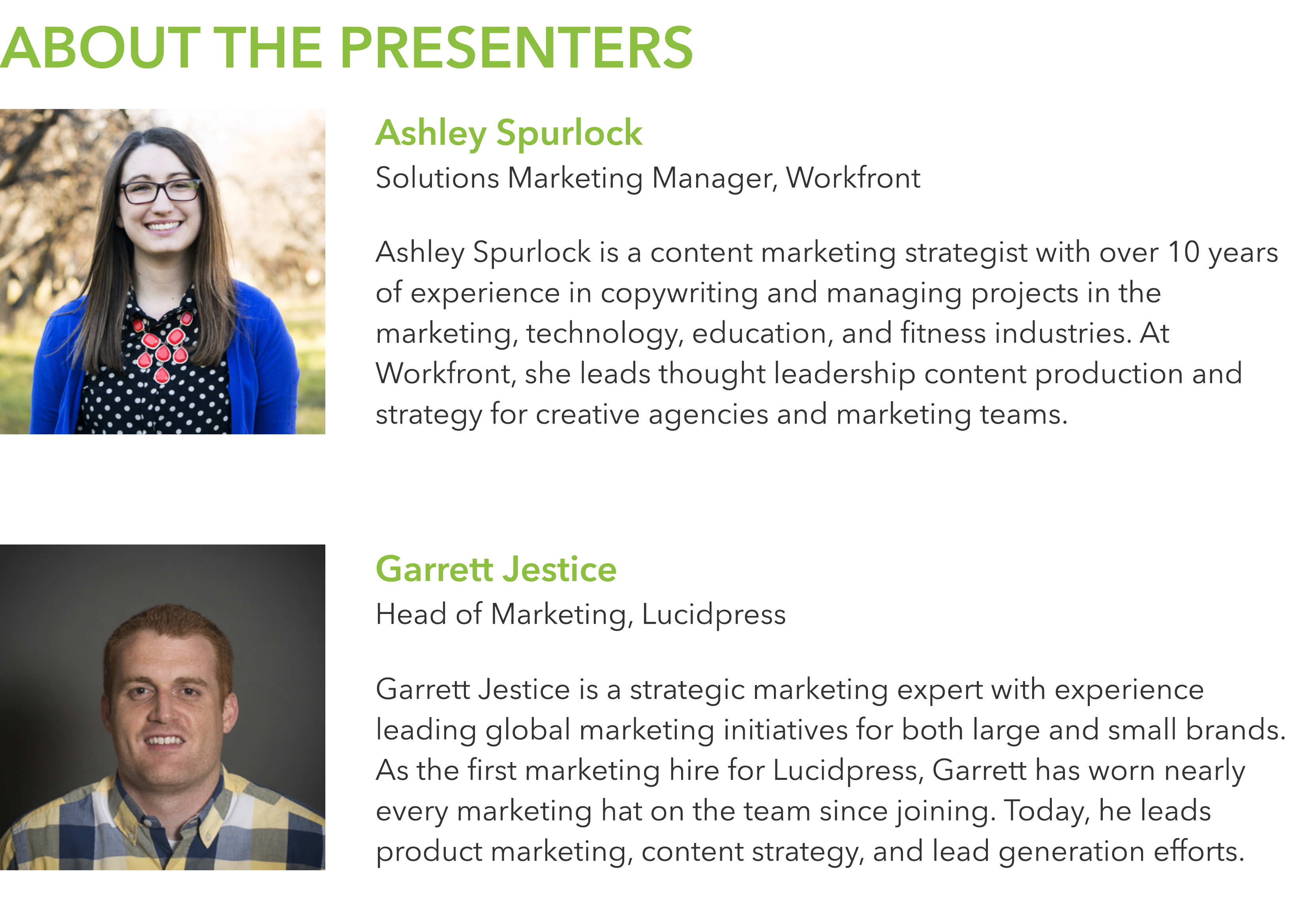 consistent brand marketing webinar speakers