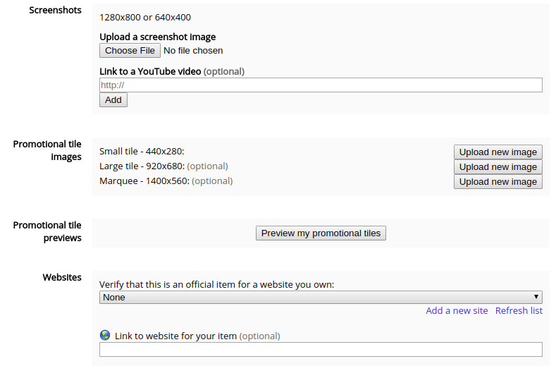 Google Apps Script add-on webstore entry form