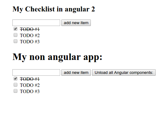 Screenshot showing the final to-do app in JS