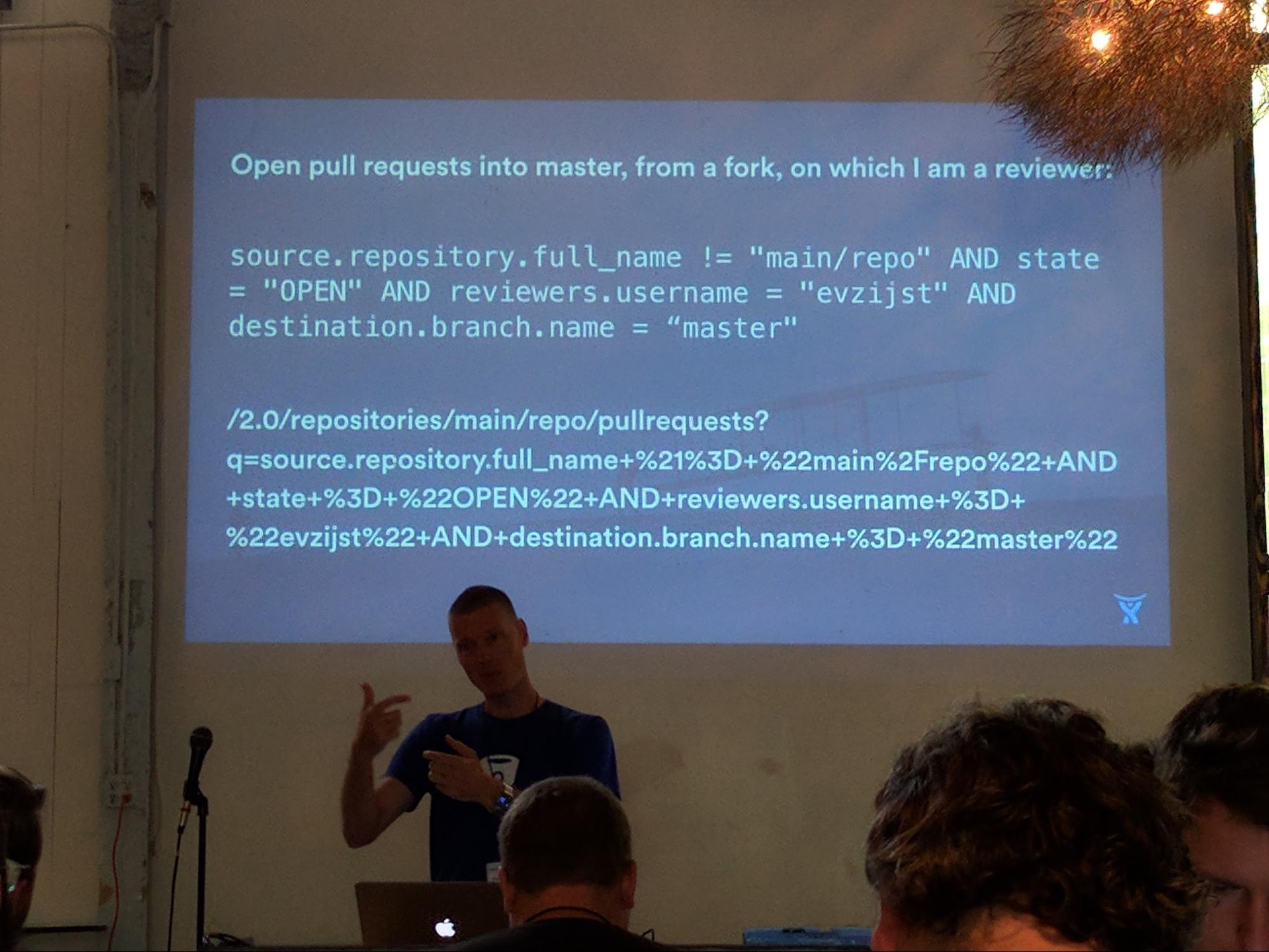 Eric van Zijst presenting