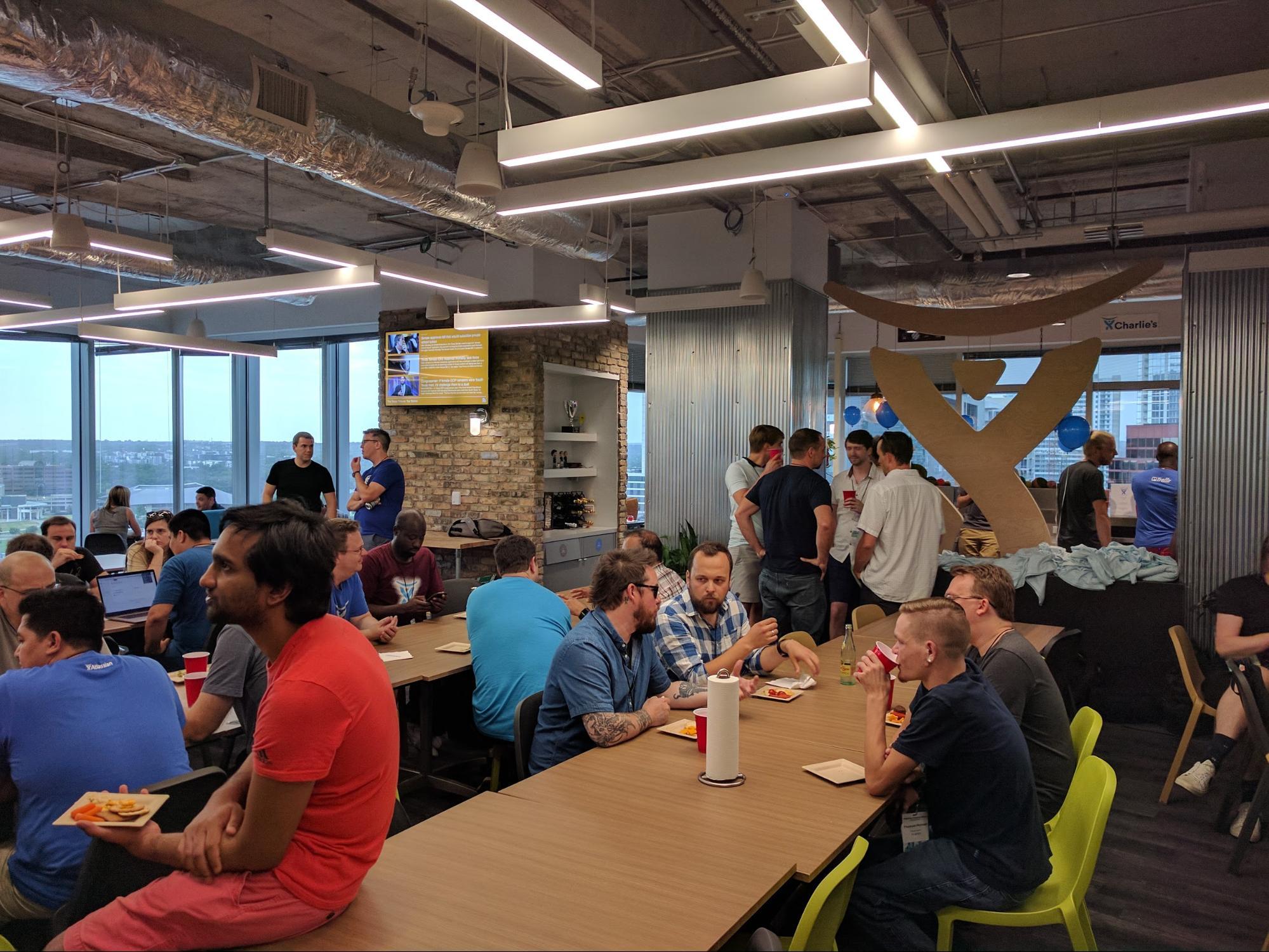 happy hour at Atlassian
