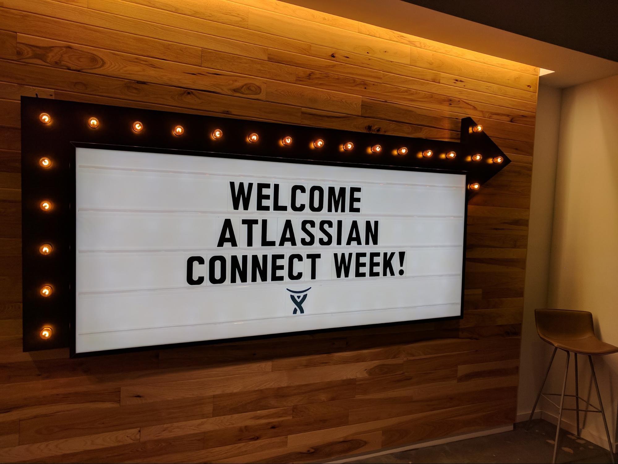 welcome to Atlassian Connect Week sign