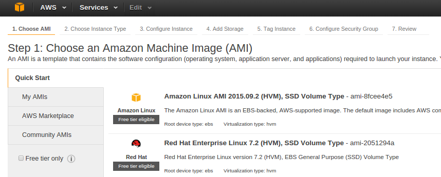 Launching an EC2 instance with Amazon Web Services
