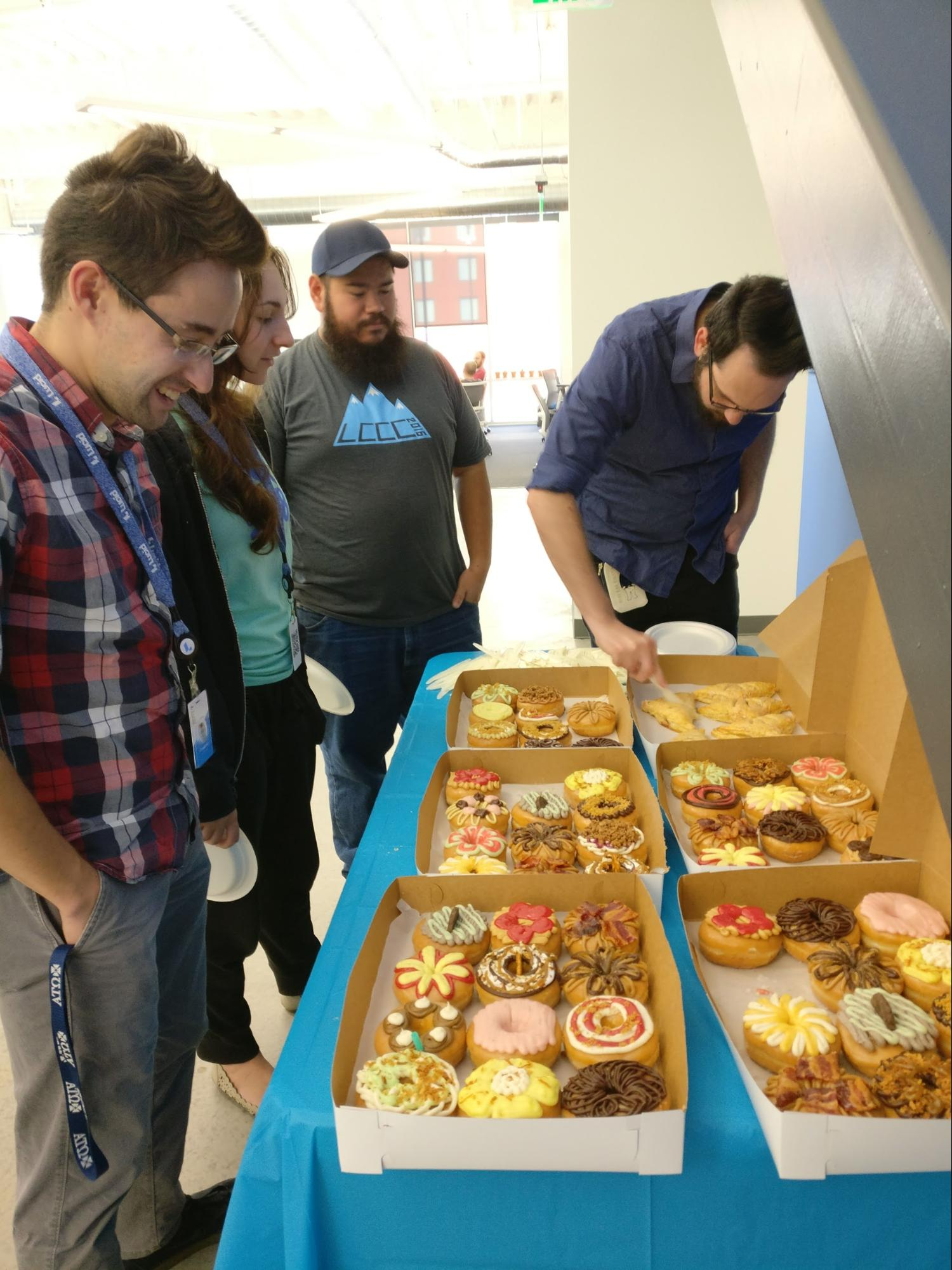donuts provided during the hackathon