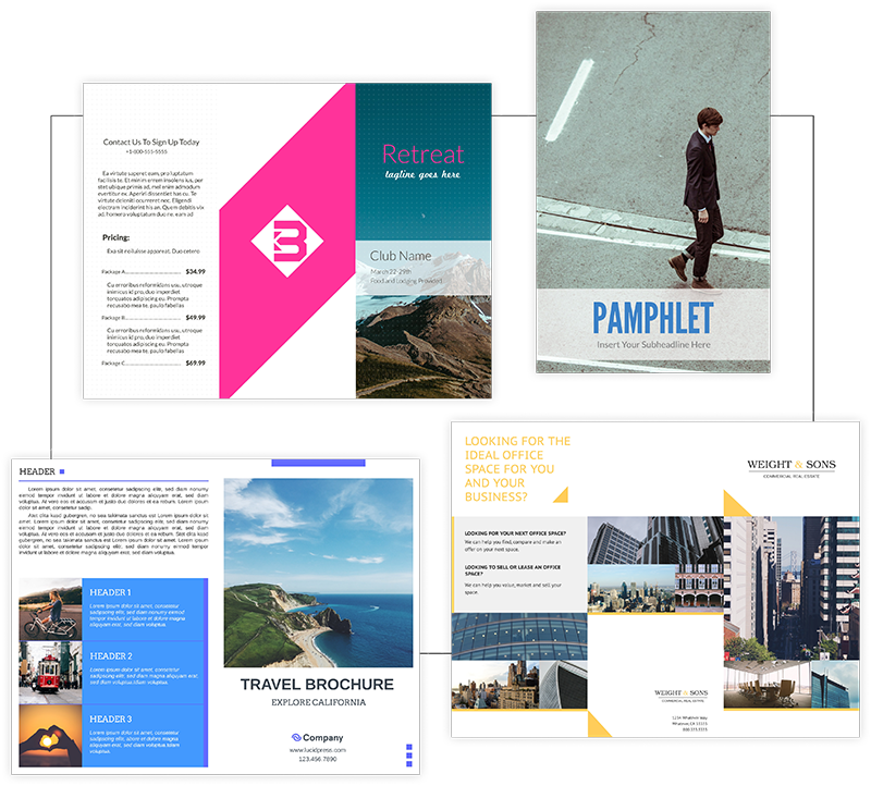 Choose a brochure template